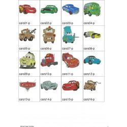 Pacote de Bordados Cars