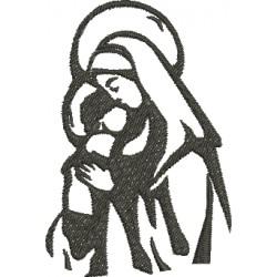 Nossa Senhora e Menino Jesus 02 - Três Tamanhos