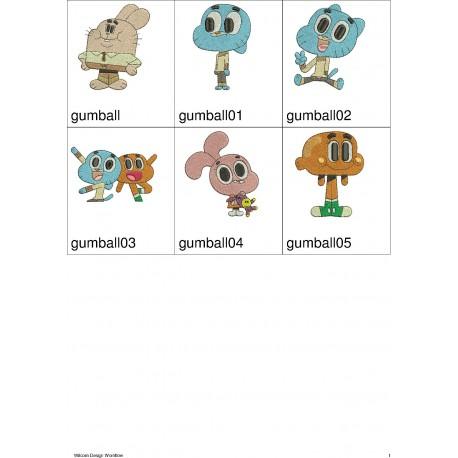 Pacote de Bordados Mundo de Gumball