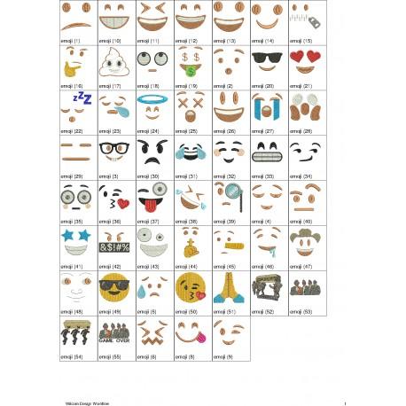 Pacote de Bordados Emojis