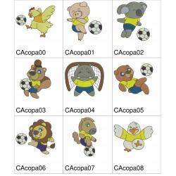 Pacote de Bordados Animais na Copa