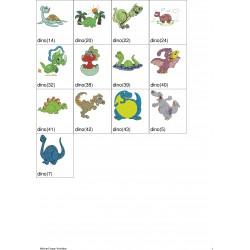 Pacote de Bordados Dinossauros
