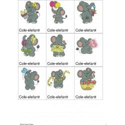 Pacote de Bordados Elefante