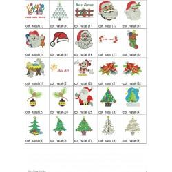Pacote de Bordados Natal 01