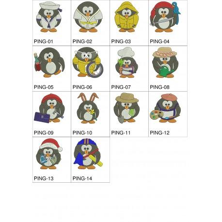 Pacote de Bordados Pinguins