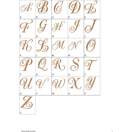 Alfabeto Marrom Completo (A-Z)