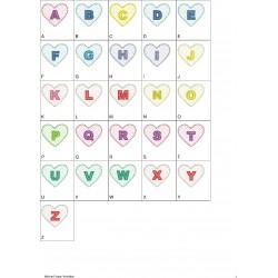 Alfabeto Coração Completo (A-Z)