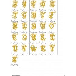 Alfabeto Dourado Completo (A-Z) - Três Tamanhos