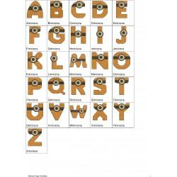 Alfabeto Minions Completo (A-Z)
