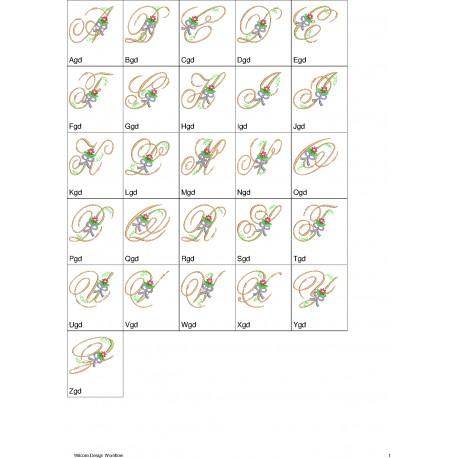 Alfabeto Flores 4 Completo (A-Z) - Três Tamanhos