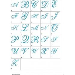 Alfabeto Azul Completo (A-Z)