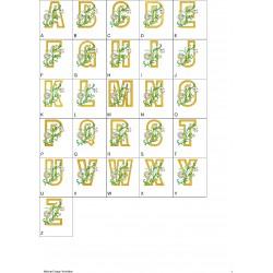 Alfabeto Flores 6 Completo (A-Z)