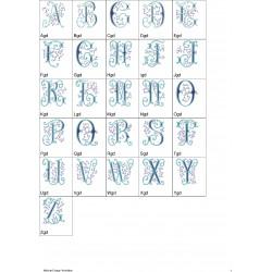 Alfabeto com Vinhas 3 Completo (A-Z)
