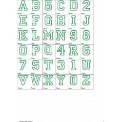 Alfabeto Caixa Alta Completo (A-Z) + Números (0-9)