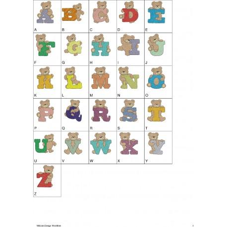 Alfabeto Ursinho 02 Completo (A-Z)