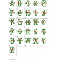 Alfabeto com Vinhas 04 Completo (A-Z)