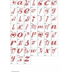 Alfabeto Coração 02 Completo (A-Z) Letras Maiúsculas e Minúsculas