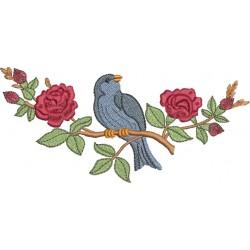Pássaro e Rosa - Três Tamanhos