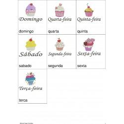 Pacote de Bordado Cupcake - Semaninha