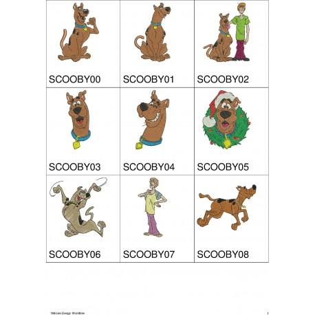 Pacote de Bordados scooby-doo