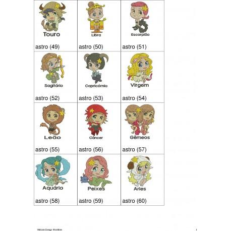 Pacote de Bordados Astrologia 00