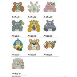 Pacote de Bordados Animais Baby