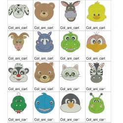Coleção de Bordados Carinhas de Animais