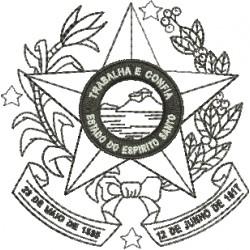 Brasão do Espírito Santo - Preto e Branco