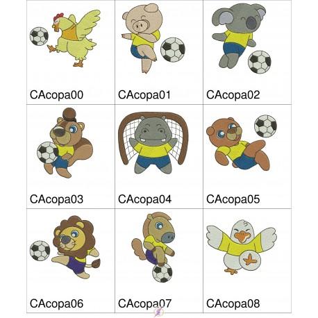 Pacote Animais no Futebol