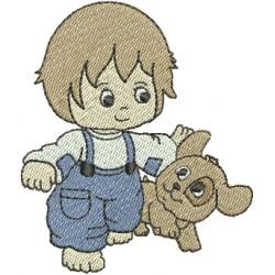 Menininho com Cachorro 01