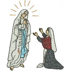 Nossa Senhora de Lourdes e Bernadete - Três Tamanhos