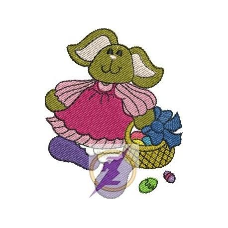 Coelhinha de Páscoa 02 - Pequeno