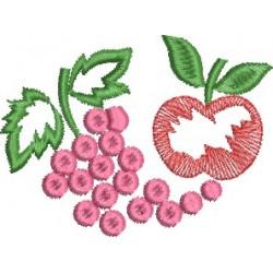 Uvas Rosadas e Maçã