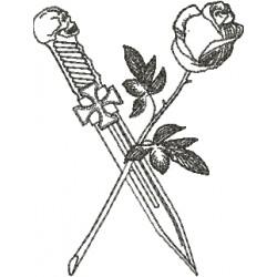 Punhal e Rosa - Três Tamanhos