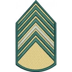 Divisa 1º Sargento Bege Com fundo