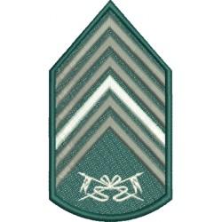 Divisa 1º Sargento Cavalaria Com Fundo