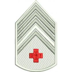 Divisa 2º Sargento Saúde Branca Com Fundo