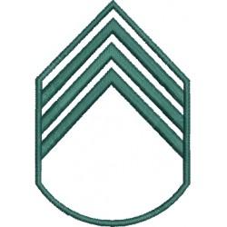 Divisa 3º Sargento Bege Sem fundo