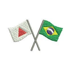 Bandeiras de Minas e Brasil