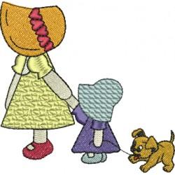 Meninas com Cachorrinho