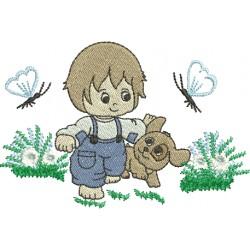 Menininho com Flores